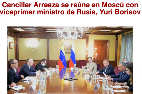 Arreaza in Moscow with Yuri Borisov
