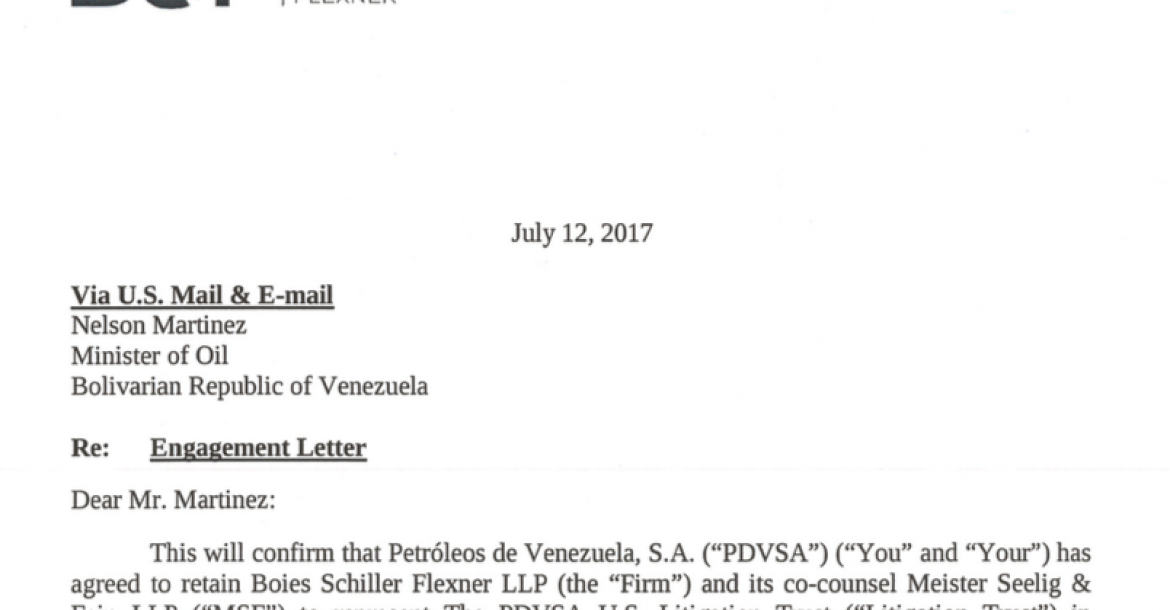 Venezuelan corruption: exhibit Boies Schiller Flexner LLP